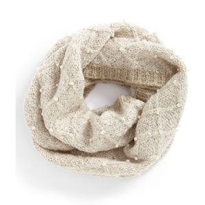 Betsey Johnson Pearl Infinity Scarf Cream Color